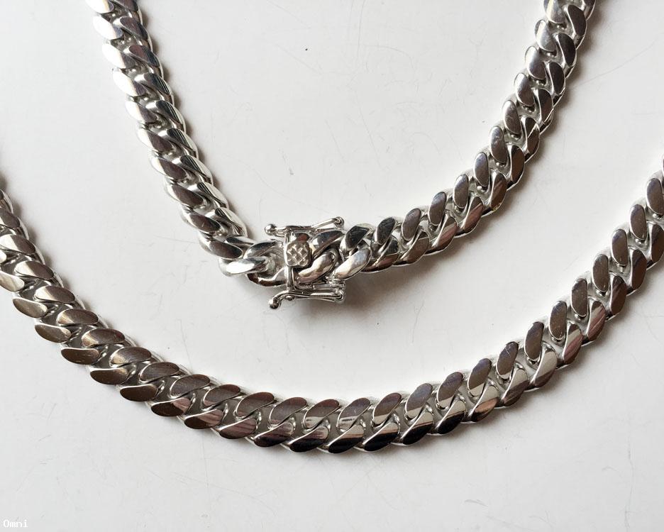 Miami 8 Mm Solid Cuban Link Fine 999 Silver Chain